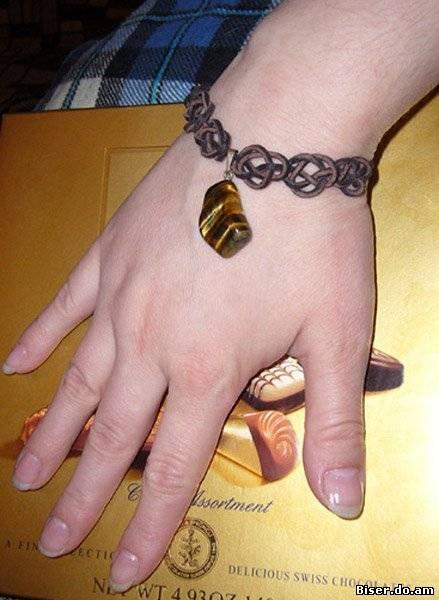 как делать из леточек браслети ИнфоКомпот.  Прекрасный подарок любимому.  Браслеты Шамбала в мужском дизайне.