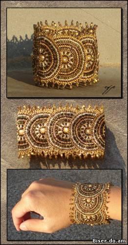 Рхема браслета из бисера плетение